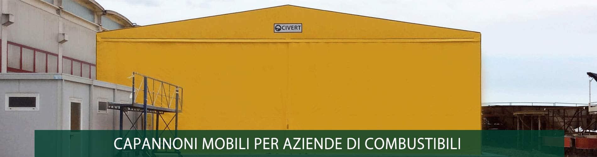 capannoni mobili aziende combustibili
