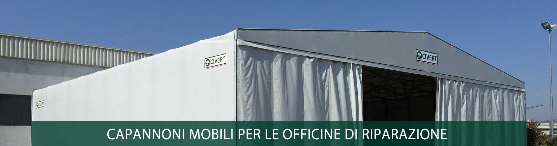 capannone mobile officine di riparazione