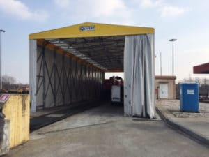 tunnel mobili retrattili
